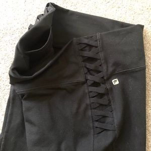 Fabletics Full Length Legging with Lace-Up Detail